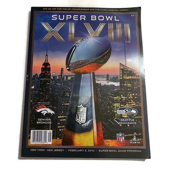 2014 Super Bowl 48 Official Programs Seahawks